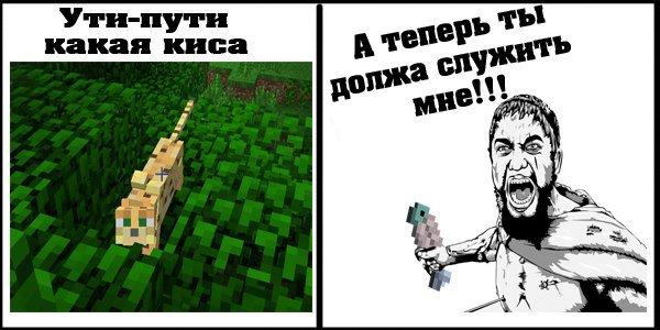 Майнкрафт - прикольные мемы про игру