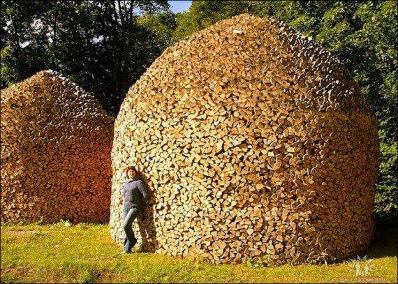 Как красиво уложить дрова