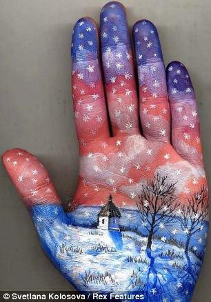 Прикольные картины на руках