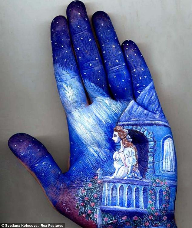 Картинки на руки синей ручкой