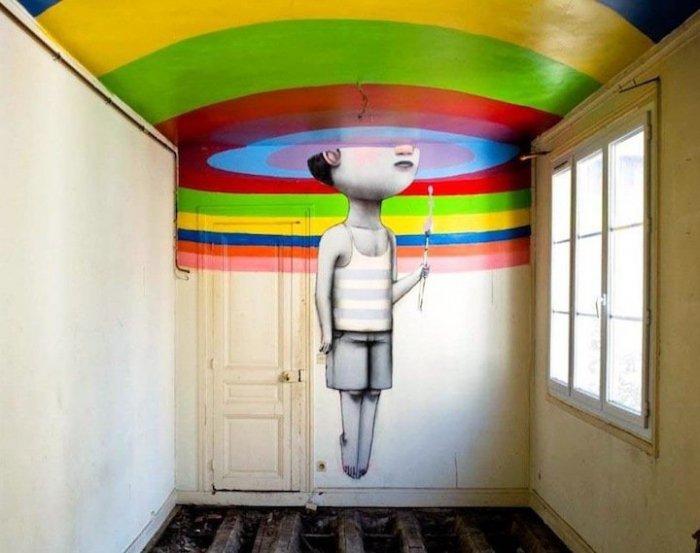 Жульен Малланд - необычные уличные рисунки