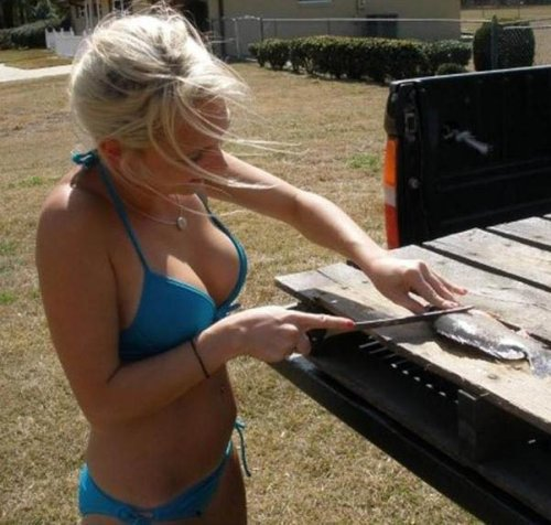 Девушки и рыбалка