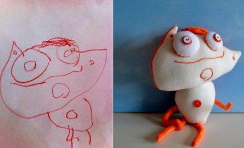 Игрушки сшитые по рисункам детей