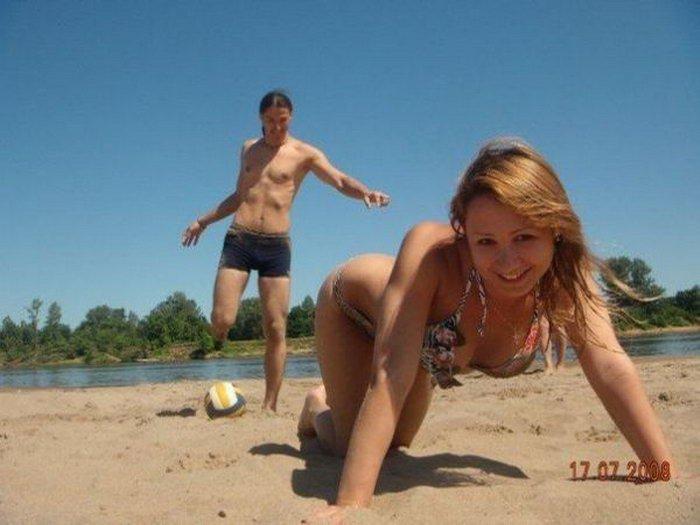 Смешные пляжные фотографии