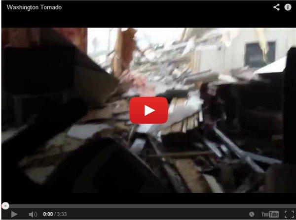 Торнадо в Вашингтоне - ужасающее видео