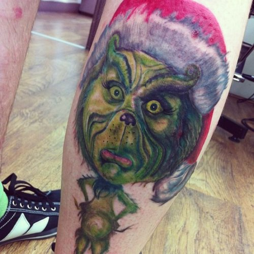 Новогодние татуировки - прикольные картинки