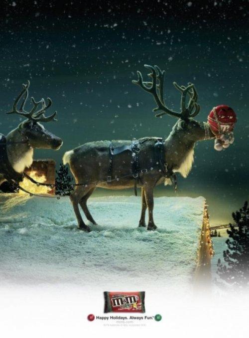Прикольные образцы новогодней рекламы