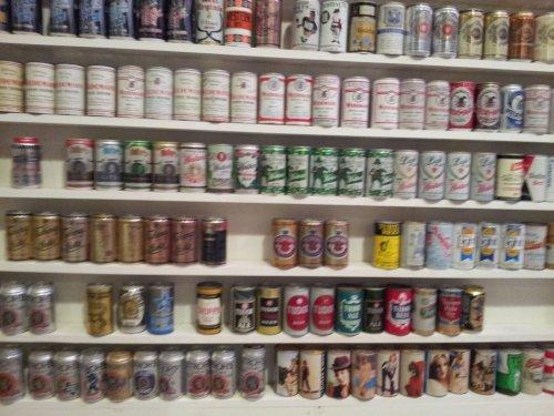 Большая коллекция пивных банок