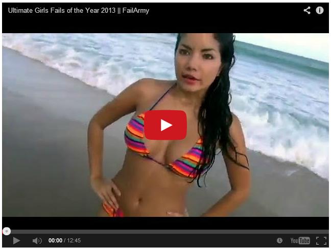 Лучшие фейлы девушек 2013 года