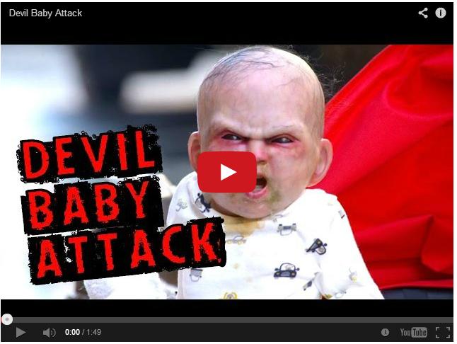 Дьявольский младенец - социальный прикол