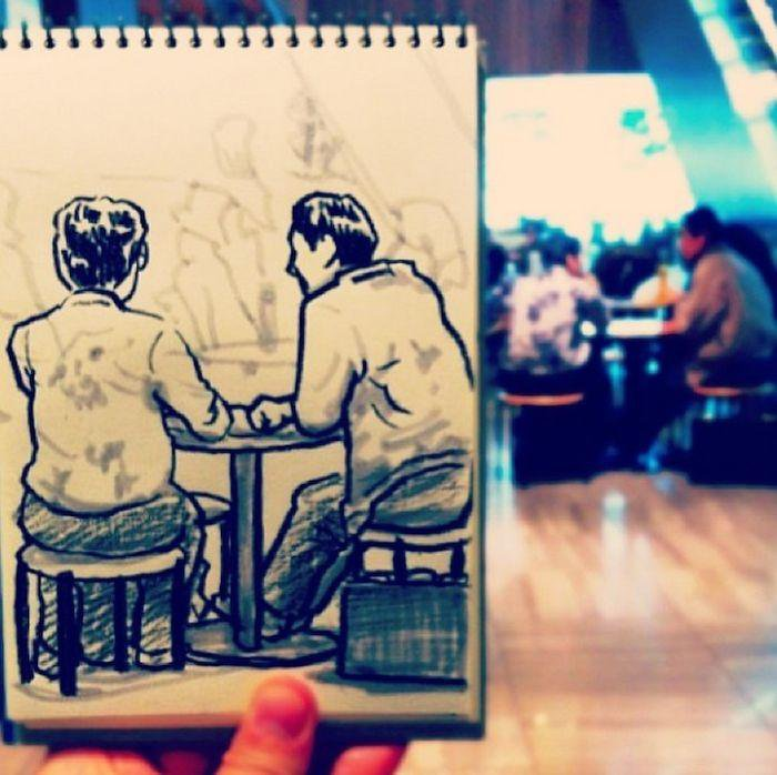 Быстрые зарисовки людей