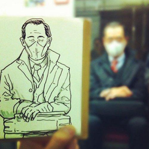 Скетчи японского художника Hama-House