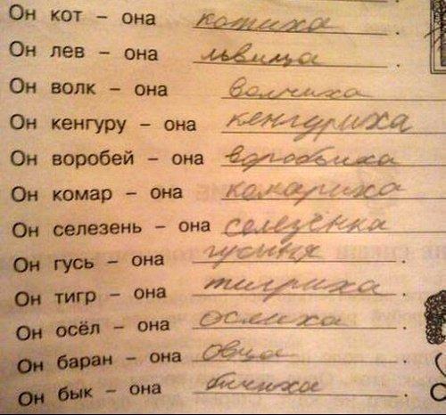 Прикольные детские записки и сочинения