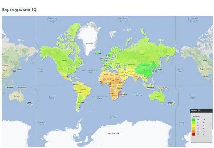 Интересные факты на мировой карте