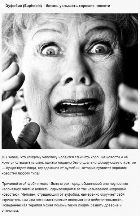 Распространённые человеческие фобии