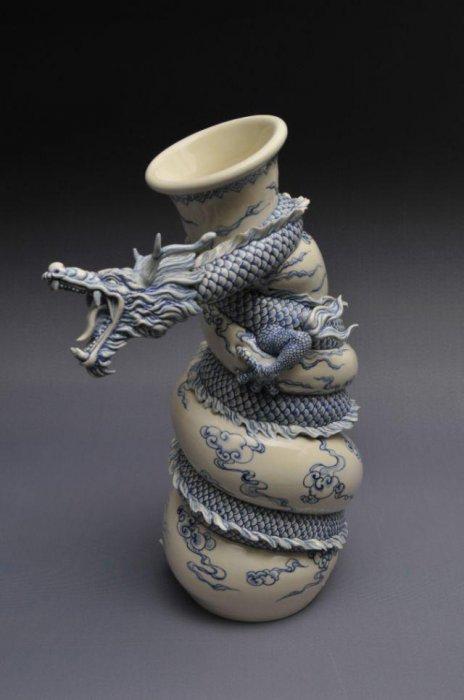 Как делают красивые вазы - гончарное искусство