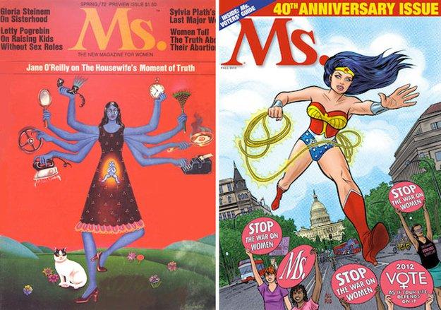 Женские журналы: до и после