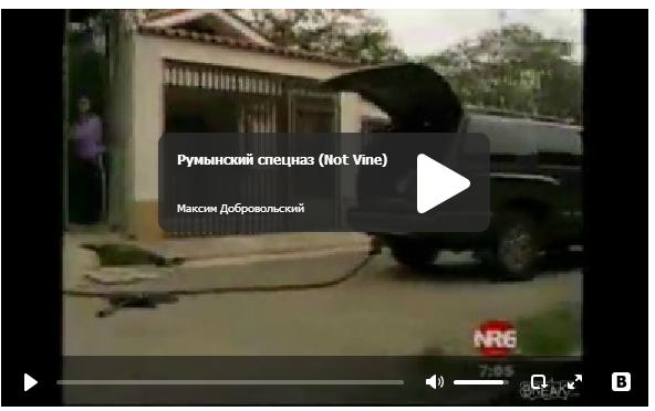 Смешной румынский спецназ - прикольное видео