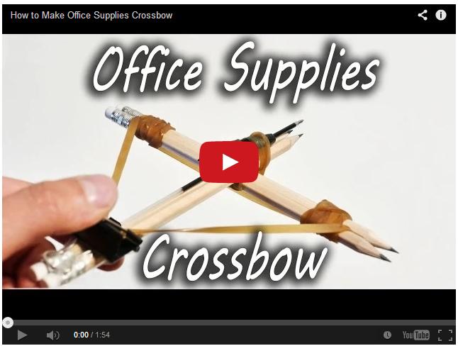 Как сделать офисный арбалет?