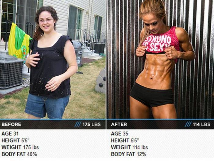 Толстый и тонкий: До и после