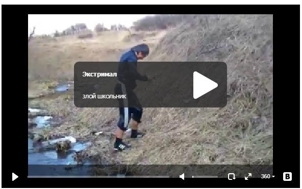 Экстремал на велосипеде - прикольное видео