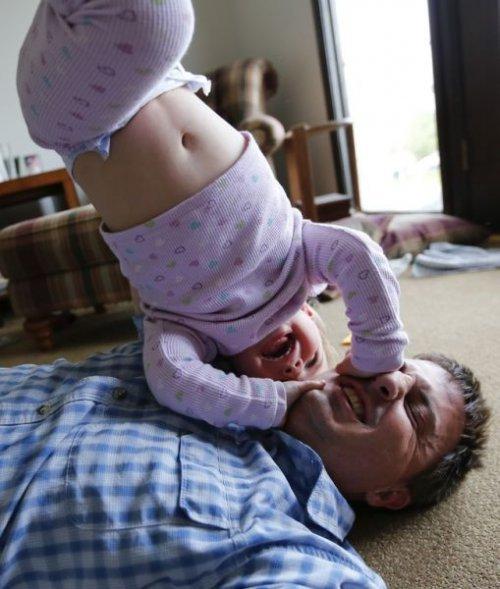 Родители и дети - смешные фото семей