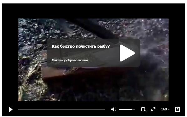 Как быстро почистить рыбу?