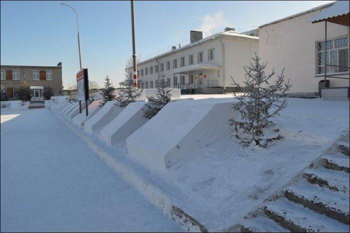 Уборка снега в российской армии