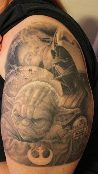 """Татуировки по мотивам к/ф """"Звёздные войны"""""""