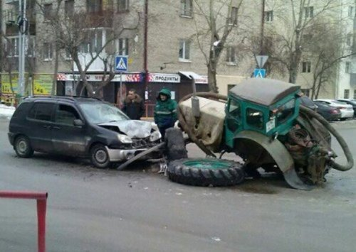 Необычные аварии и ДТП. Подборка автоприколов