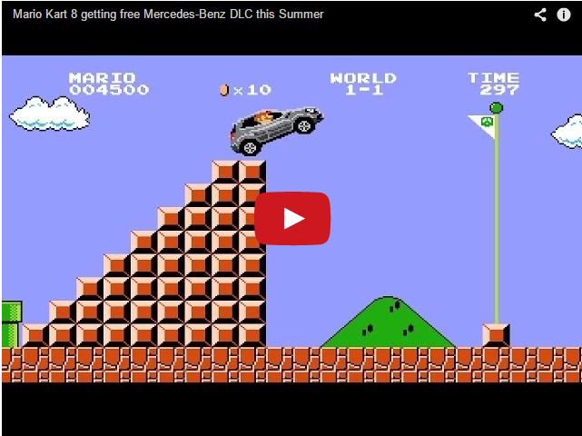 Новая реклама Мерседеса. Супер Марио