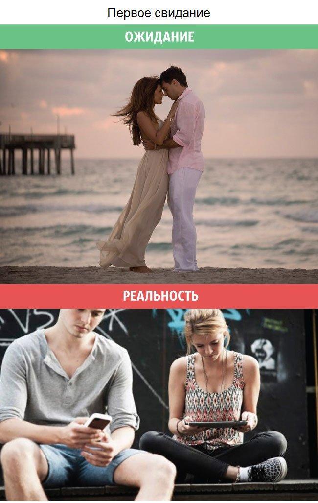 Ожидания и реальность в отношениях. Смешные картинки
