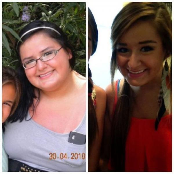 До и после спортивной диеты. Результат налицо