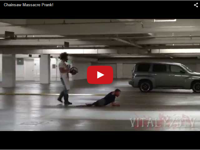 Резня бензопилой - Prank-ролик!