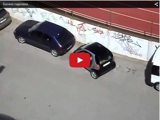 Богиня парковки. Смешное видео