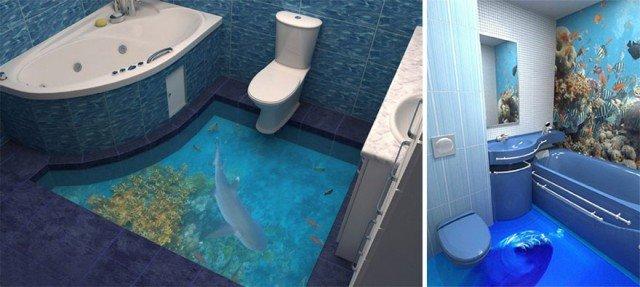 3D полы в морском стиле. Красивые фото