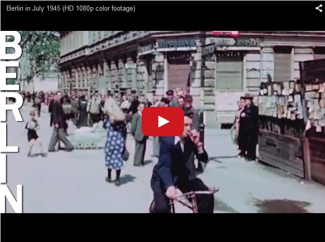 Берлин 1945 года после Победы. Цветная кинохроника