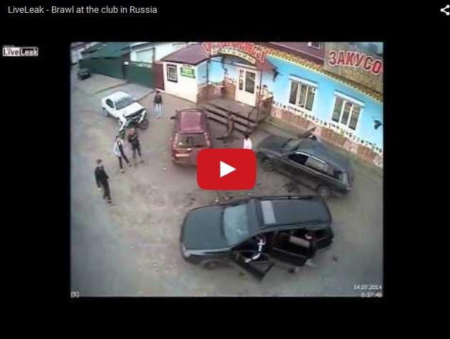 Разборки по-русски. Драка у закусочной