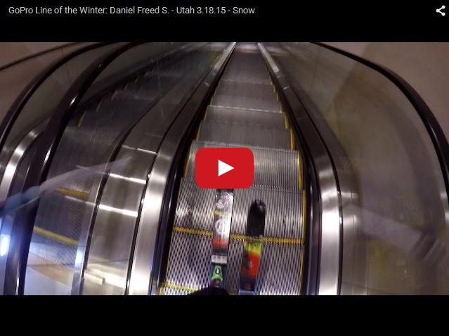 Как проехать на лыжах по эскалатору