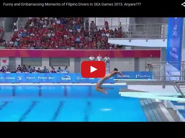 Как не надо делать прыжок  в воду