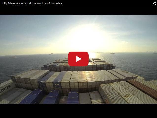 Экскурсия вокруг света на корабле  Elly Maersk за 4 минуты