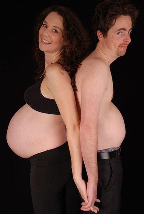 Смешные фотосессии беременных с мужьями 47