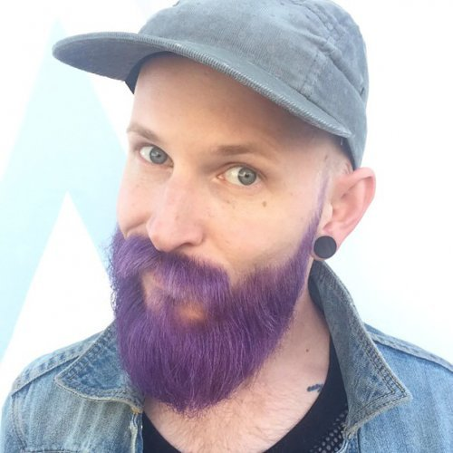 Новый трэнд: цветная борода и волосы