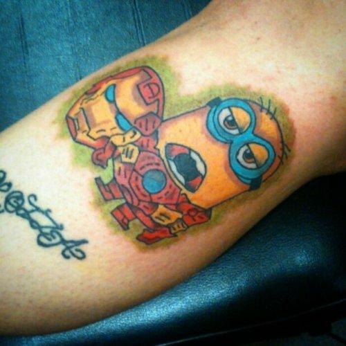 Прикольные татуировки с миньонами