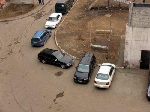 Гении парковки. Картинки про авто