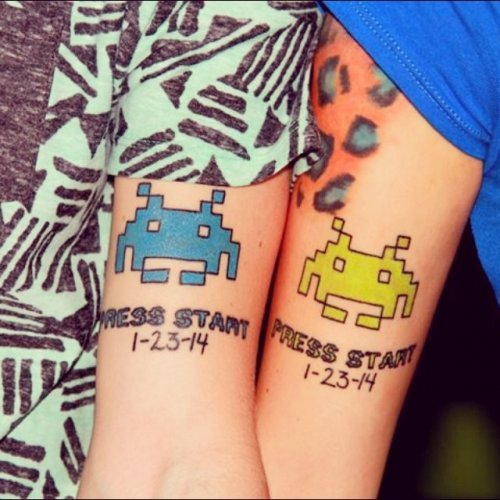 Парные татуировки. Прикольные рисунки на теле