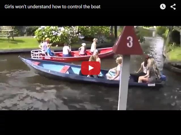 Никогда не доверяйте девушкам управление лодкой