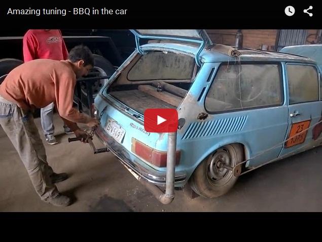 Как пожарить шашлык в автомобиле? Суровый тюнинг из Бразилии