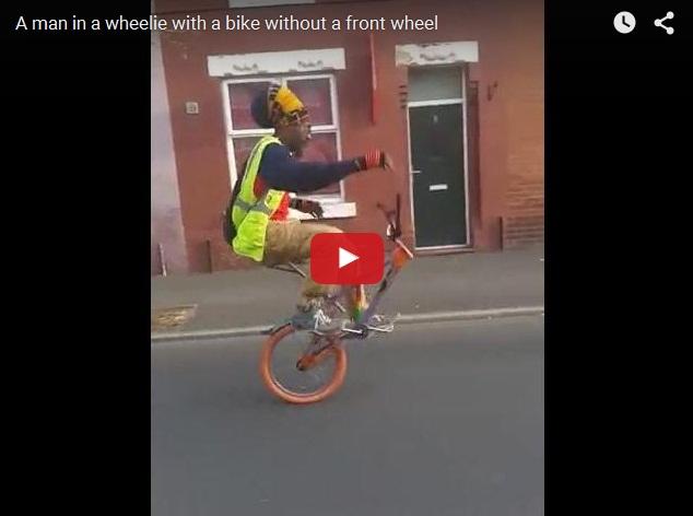 Велосипедист 80 уровня или Выкрутасы на одном колесе