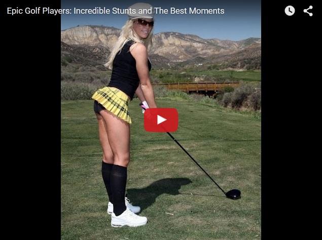 Прикольные трюки в гольфе